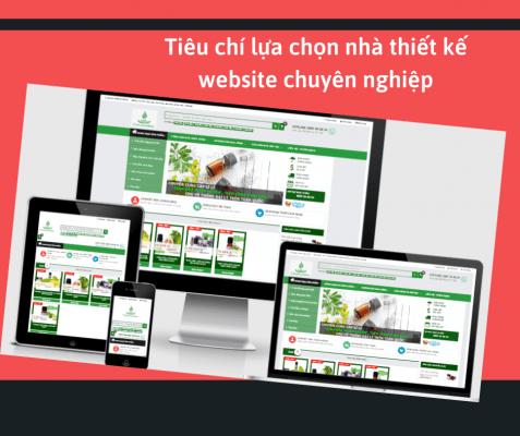 Tiêu chí lựa chọn nhà thiết kế website chuyên nghiệp