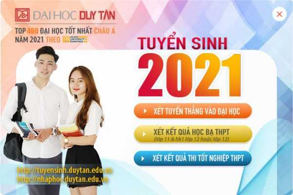 Đại học Duy Tân tuyển sinh 2021